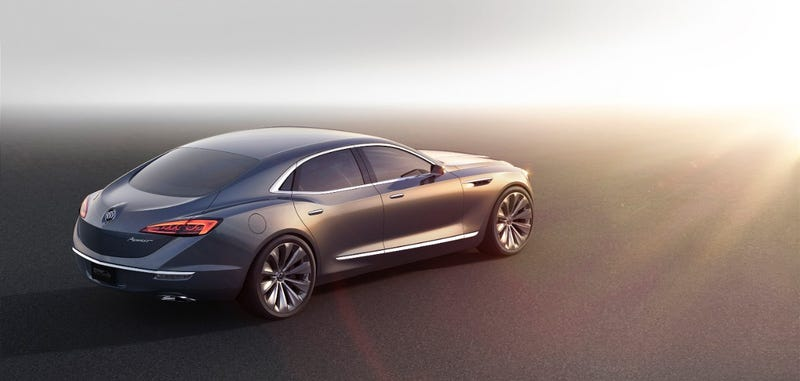 Illustration for article titled Buick Avenir Concept: The Gorgeous RWD Buick We've Been Waiting For