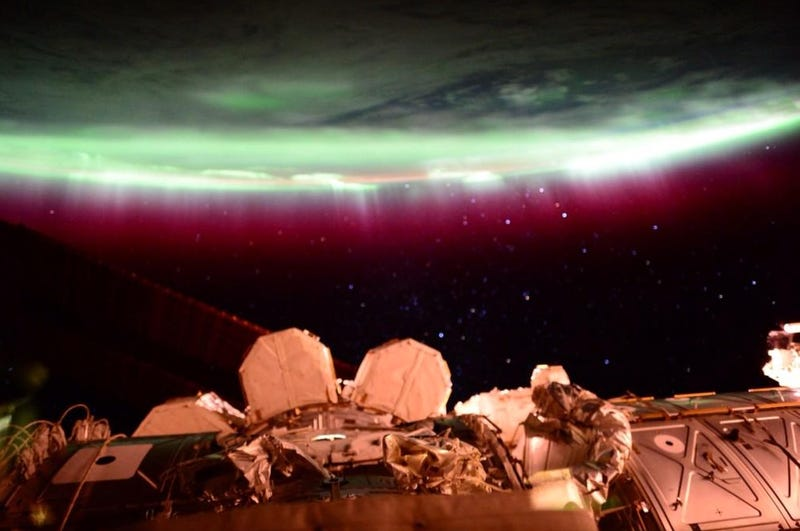 Illustration for article titled Astronaut Scott Kelly Had The Best View of Last Night's Bonkers Aurora