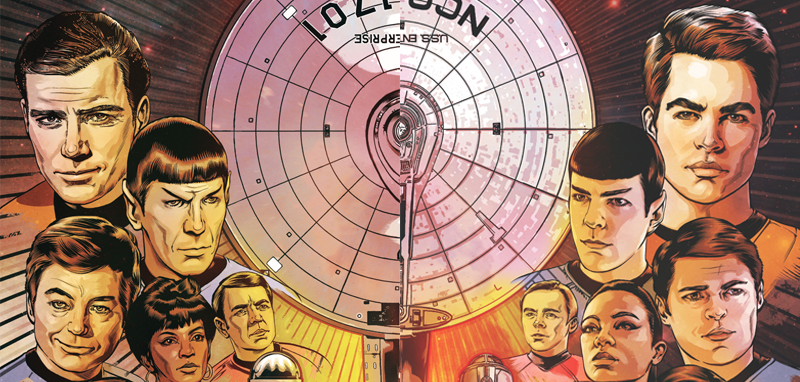 Illustration for article titled IDW'sStar TrekComic Joins the TV and Movie Universes in a Brilliant, Beautiful Way
