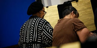 Black voters in Fortworth,Texas, during the 2012 presidential election (Tom Pennington/Getty Images)