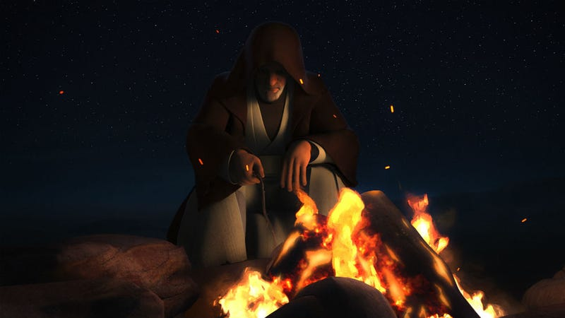Obi-Wan Kenobi plays a major role in the latest Star Wars Rebels. All Images: Disney XD