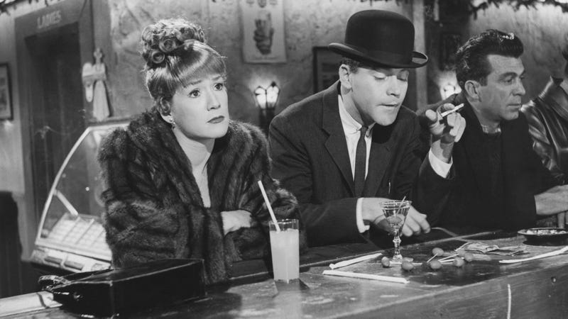 Hope Holiday at the bar with Jack Lemmon in The Apartment (1960). (Photo: John Springer Collection/CORBIS/Corbis via Getty Images)