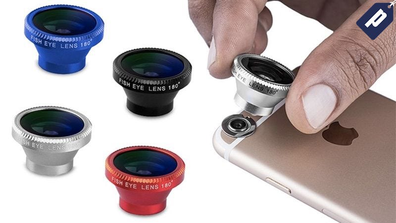 Illustration for article titled This 5 Piece Smartphone Camera Lens Kit Is Now Just $10 (80% Off)