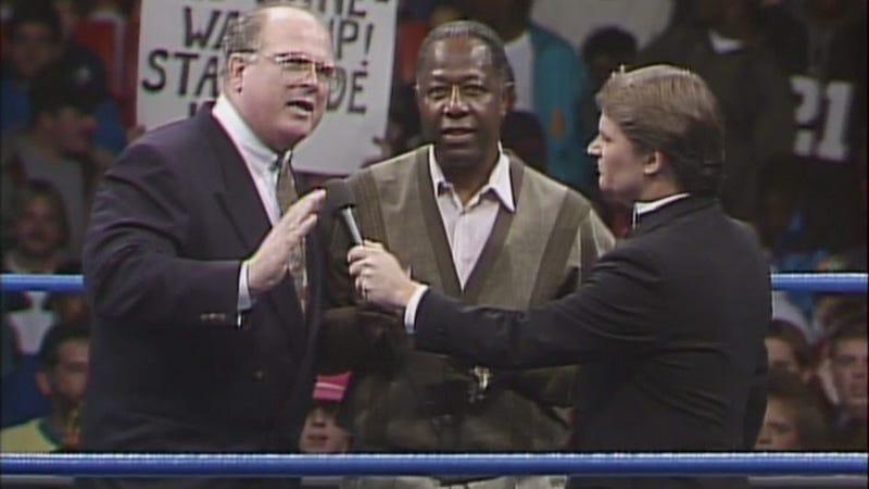 Bill Watts, Hank Aaron, and Tony Schiavone (Screenshot/WWE Network)