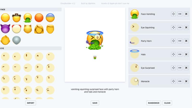 Emoji Builder es una web que te permite crear tus propios emoticonos.