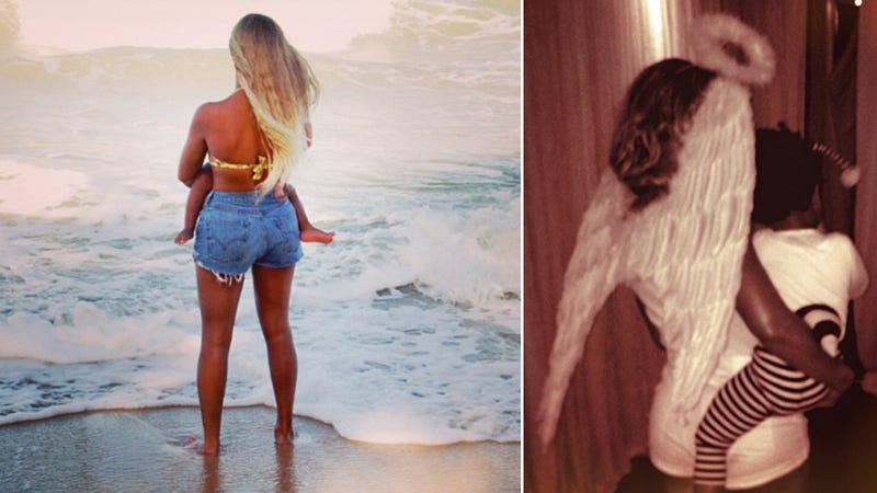 Illustration for article titled Beyoncé Gushes That Angels Sighed Over Blue Ivy in New Song