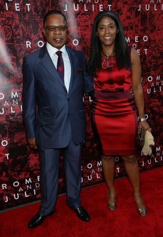 Producers Stephen Byrd and Alia Jones-Harvey attend the opening night of Shakespeare's Romeo and Juliet at the Richard Rogers Theater Sept. 19, 2013, in New York City.  Rob Kim/Getty Images