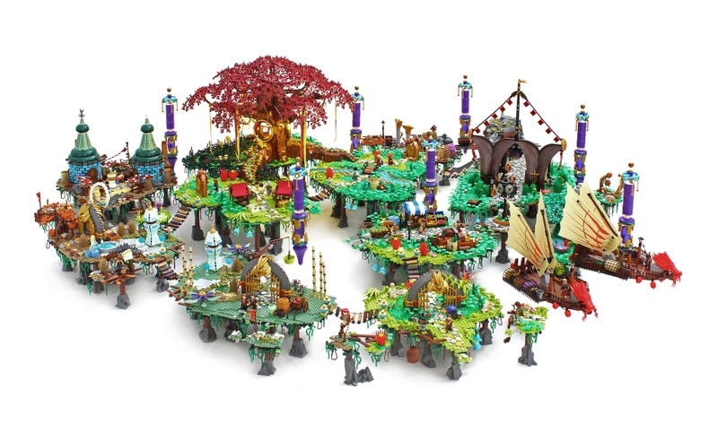 Illustration for article titled This Bastion-Inspired LEGO World Deserves Its Own Game