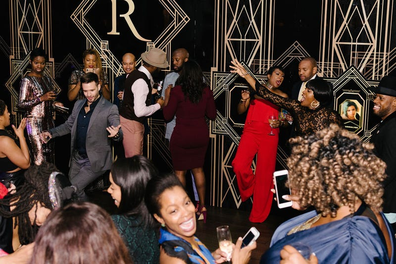 Revelers at 2018's The Root 100 celebrate at the gala afterparty.