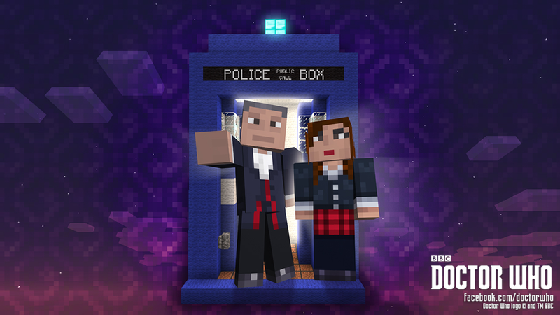 Illustration for article titled We are reaching peak tie-in madness: Doctor Who is coming to Minecraft