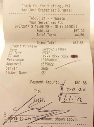 Illustration for article titled Restaurant Calls Out LeSean McCoy For Leaving 20-Cent Tip