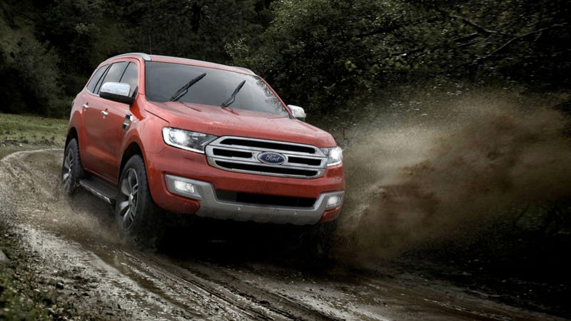 Illustration for article titled 2015 Ford Everest Is A Modern Mall-Crawler That Can Seriously Off-Road