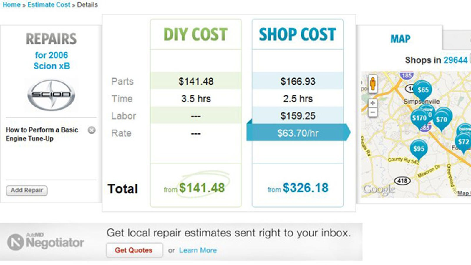 Compare The Price Of An Auto Shop Versus Diy Repairs With Automd Cost Car Fuse Box