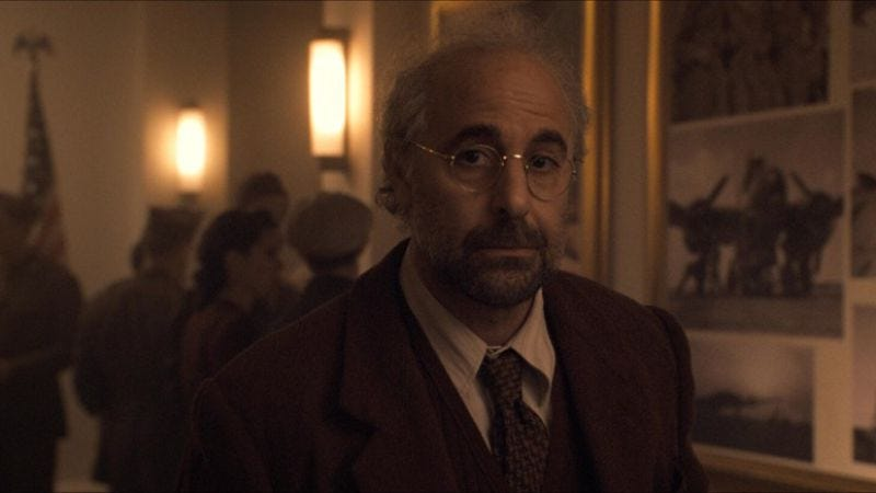Stanley Tucci as Abraham Erskine in Captain America: The First Avenger
