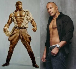 Illustration for article titled Shane Black wants Dwayne Johnson as Doc Savage.
