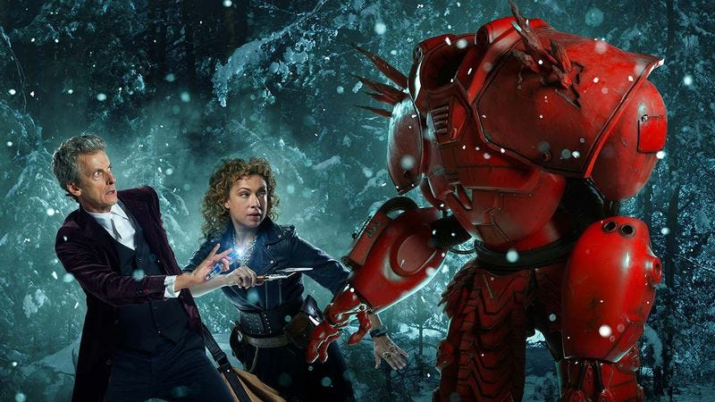 The Doctor, River Song, definitely not Baymax (BBC America)