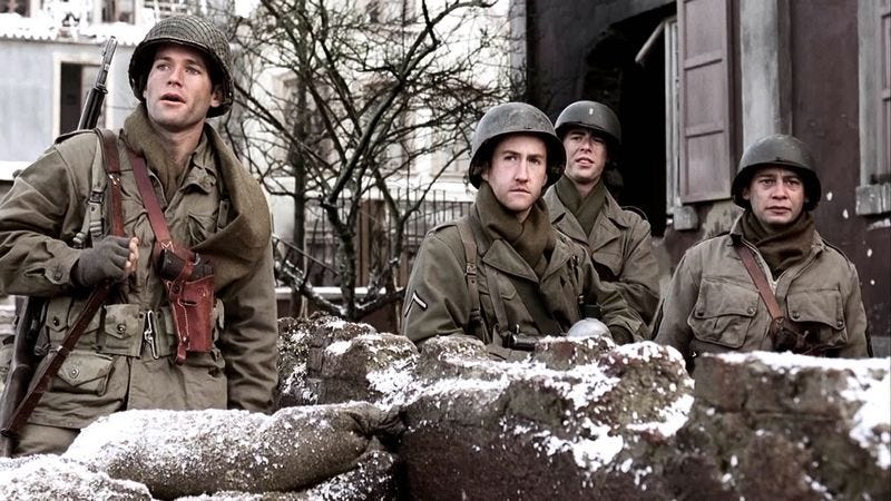 The cast of Band Of Brothers (HBO)