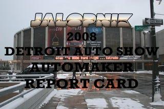 Illustration for article titled The Jalopnik 2008 Detroit Auto Show Automaker Report Card