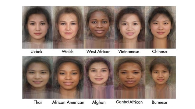See The Average Face Of Women From 40 Different Countries