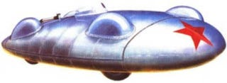 Illustration for article titled Star of Soviet Land Speed Record Car
