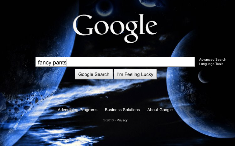google search homepage gets user customizable backgrounds. Black Bedroom Furniture Sets. Home Design Ideas
