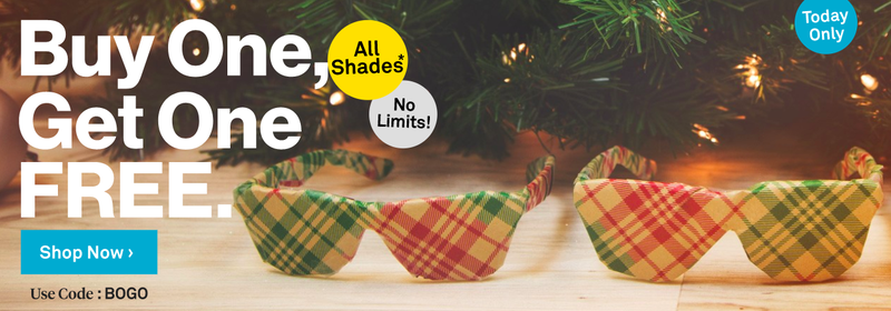 Buy one, get one free on all sunglasses | Sunglass Warehouse | Use code BOGO