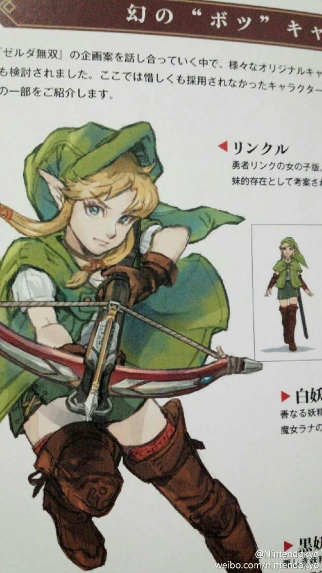 Linkle The Female Link Finally Set To Debut In Hyrule Warriors Legends Hyrule Warriors Legends
