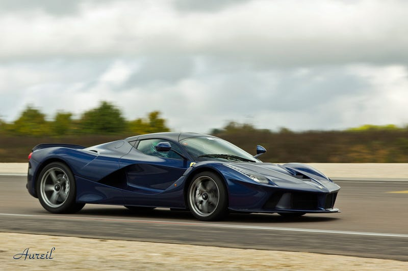 Illustration for article titled The La Ferrari in blue, I might need new pants
