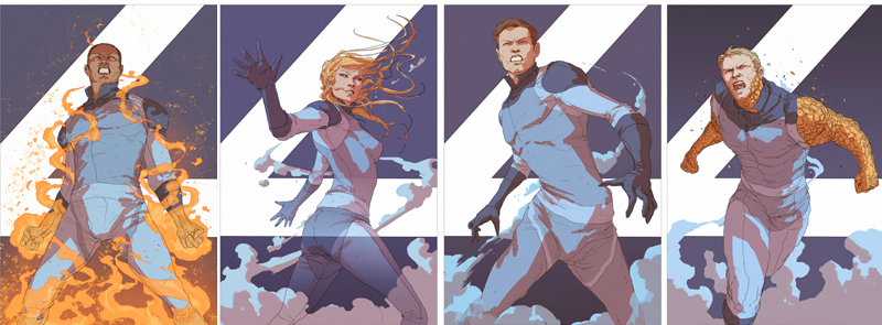 Illustration for article titled The Rejected Fantastic Four Concept Posters Are About 4,000 Percent Better Than the Movie
