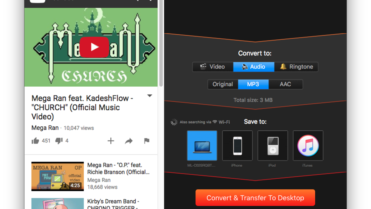 Convert Streaming Videos to Audio Files With This App