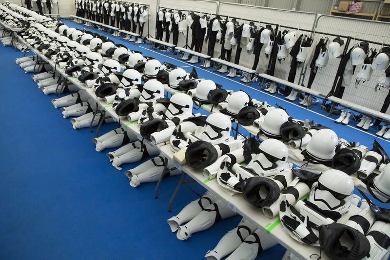 Illustration for article titled The Force Awakens' Stormtrooper Dressing Room is the Coolest Thing You'll See Today
