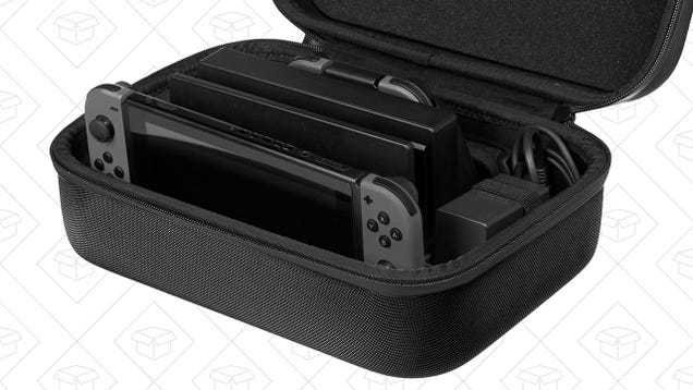 This Discounted Switch Carrying Case Can Hold Your Dock and Cables Too