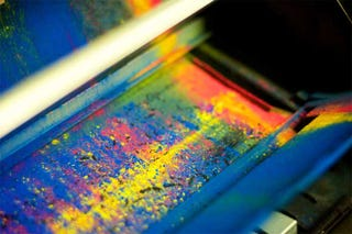 Illustration for article titled Exploded Toner Cartridge Makes for Pretty Pictures