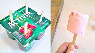 Illustration for article titled One-Step Frozen Yogurt Pops
