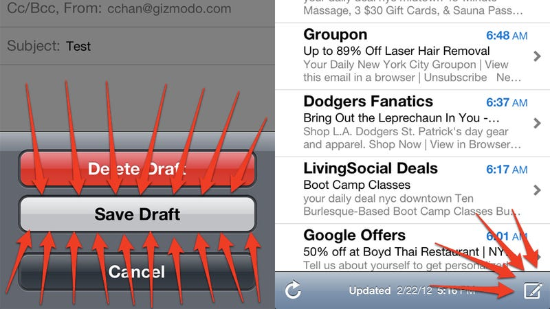 Illustration for article titled How to Quickly Open Saved Email Drafts in iOS