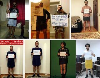 Illustration for article titled Török és azeri férfiak is tüntetnek miniszoknyával a nemi erőszak ellen