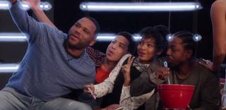 The cast of Black-ish and rapper Kendrick Lamar (far right)Twitter
