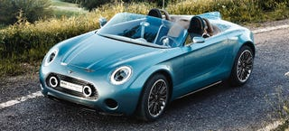 Illustration for article titled MINI Makes A Lovely Little Superleggera Roadster Concept