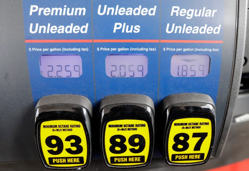 File photo of a gas pump Jan. 23, 2015 in Florida (AP Photo/Chris O'Meara)
