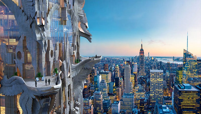 Illustration for article titled This NYC Skyscraper Design Is Like the Chrysler Building Went to Burning Man and I Love It