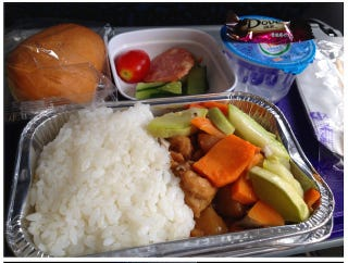 Illustration for article titled Like Elsewhere, Chinese Airline Food Doesn't Look So Great