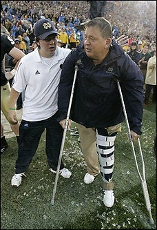 Illustration for article titled College Football Roundup: Charlie Weis Is Broken