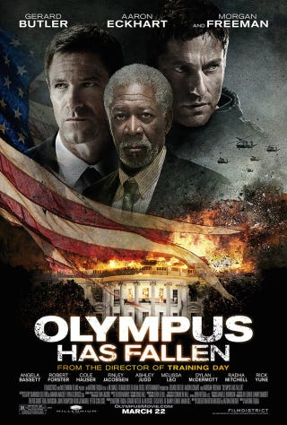 Illustration for article titled Olympus Has Fallen = NEM DOGMA