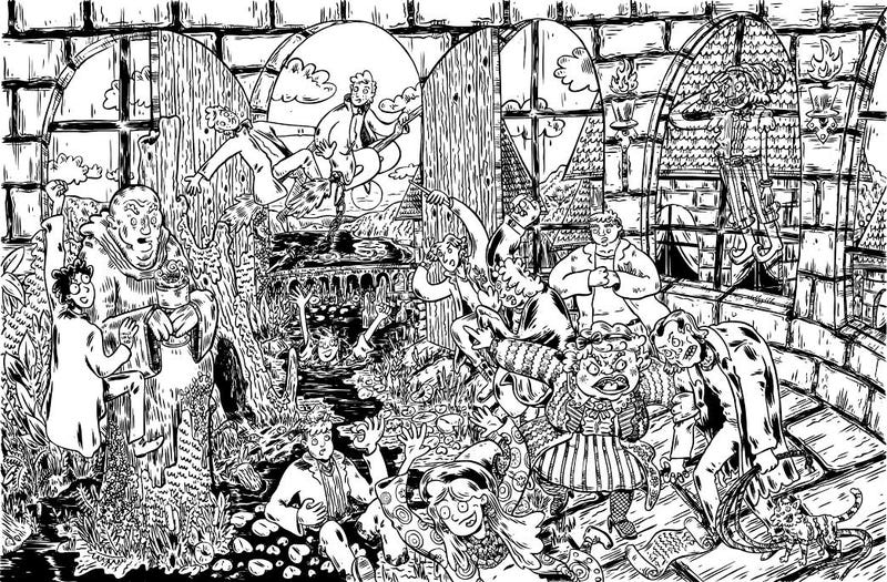 Illustration for article titled Can You Spot All the Geeky Details in these Fantastic Drawings?