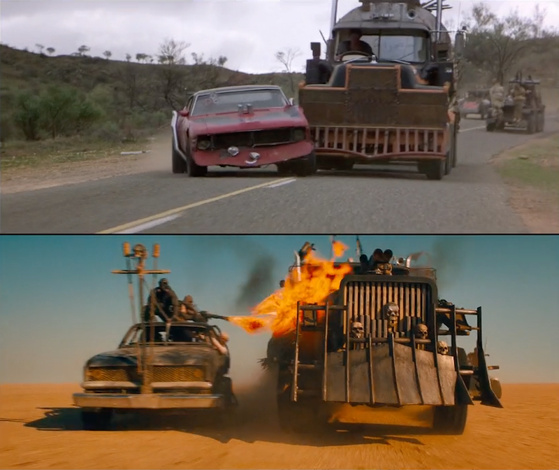 Illustration for article titled This Shot-By-Shot Comparison of Old and New Mad MaxIs a Blast