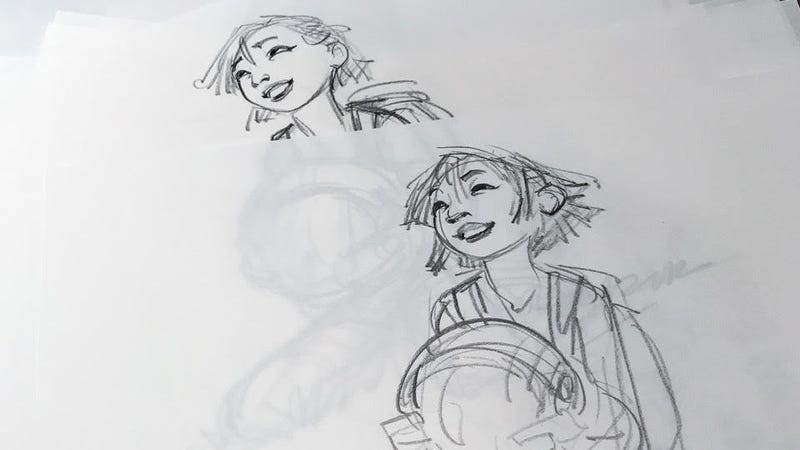 Sample character sketches from Over the Moon. Image courtesy of Netflix.
