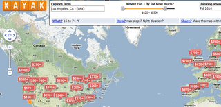 Illustration for article titled Kayak Explore Shows You Where You Can Fly for the Money in Your Budget (and More)