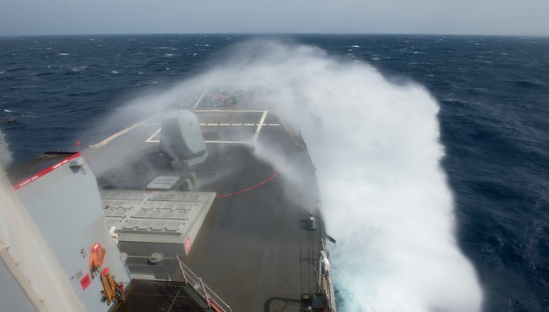 Illustration for article titled USS Ross guided-missile destroyer looks like it has its own force field