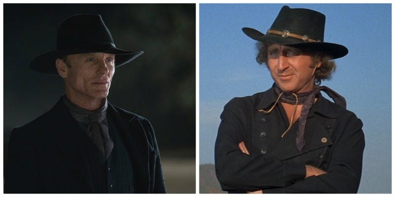 Illustration for article titled Westworld Has a Lot More in Common With Blazing Saddles Than Just Cowboys