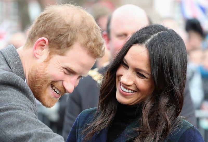 Prince Harry and Meghan Markle visit Edinburgh Castle on Feb. 13, 2018, in Edinburgh, Scotland. (Chris Jackson/Getty Images)